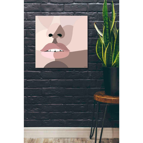 'Neutral Face' by Kyra Brown, Canvas Wall Art,26 x 26