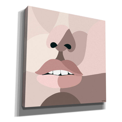 'Neutral Face' by Kyra Brown, Canvas Wall Art,Size 1 Square