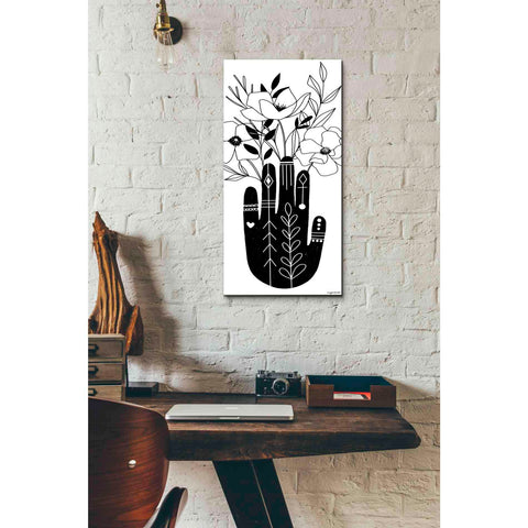 'Flower Hand' by Kyra Brown, Canvas Wall Art,12 x 24