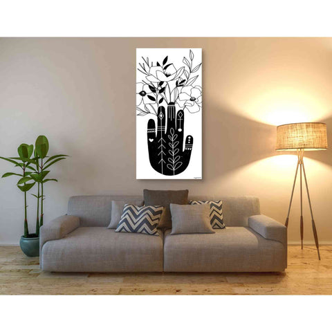'Flower Hand' by Kyra Brown, Canvas Wall Art,30 x 60