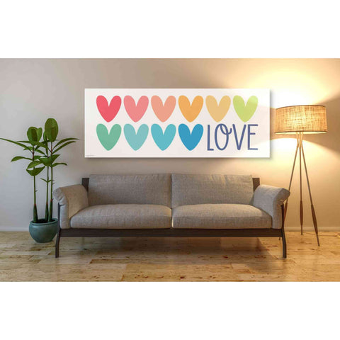 'Love Hearts' by Kyra Brown, Canvas Wall Art,60 x 20