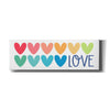 'Love Hearts' by Kyra Brown, Canvas Wall Art,Size 3 Landscape