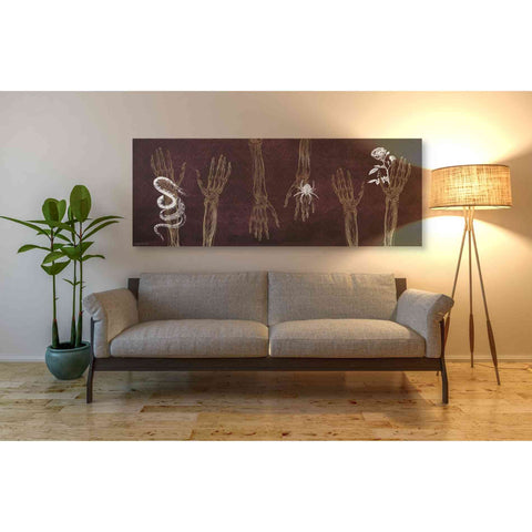 'Skeleton Hands' by Kyra Brown, Canvas Wall Art,60 x 20
