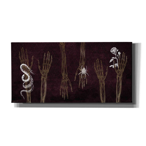 'Skeleton Hands' by Kyra Brown, Canvas Wall Art,Size 2 Landscape