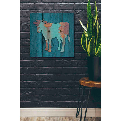 'Cow' by Yellow Cafe, Canvas Wall Art,26 x 26
