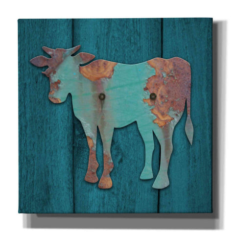 'Cow' by Yellow Cafe, Canvas Wall Art,Size 1 Square