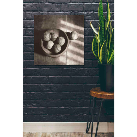 'Baseball Bowl' by Yellow Cafe, Canvas Wall Art,26 x 26