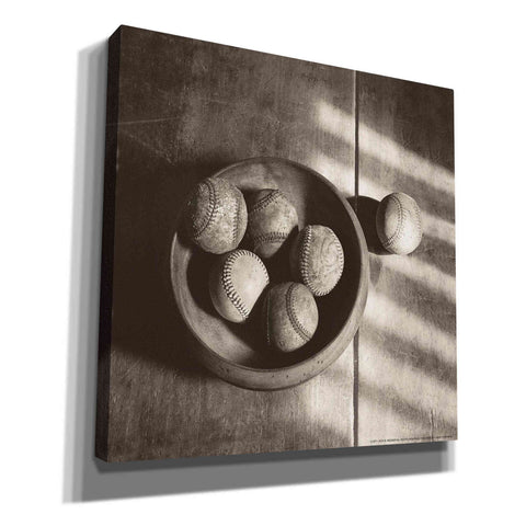 'Baseball Bowl' by Yellow Cafe, Canvas Wall Art,Size 1 Square