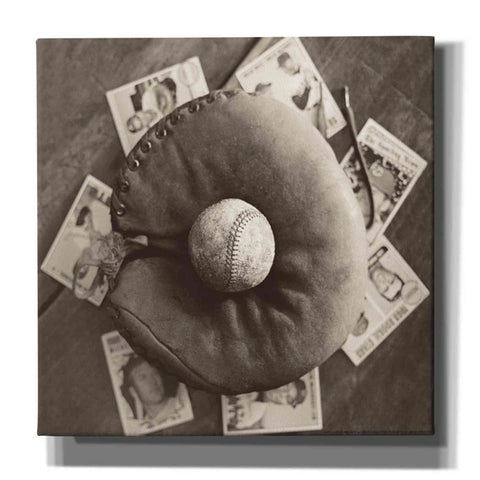 'Baseball Cards' by Yellow Cafe, Canvas Wall Art,Size 1 Square