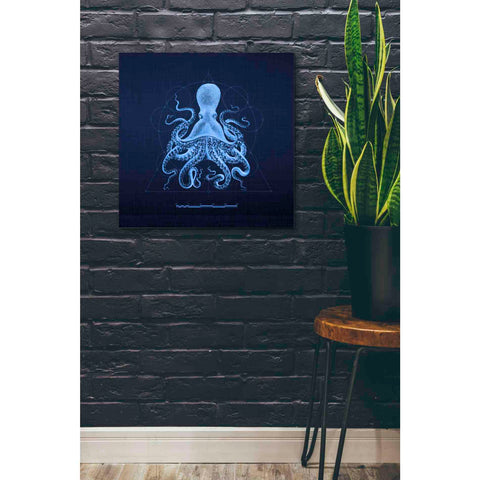 'Octoprint II' by Yellow Cafe, Canvas Wall Art,26 x 26