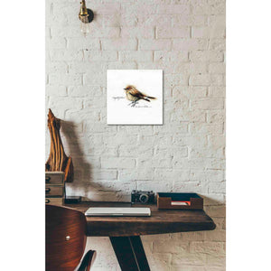 'Finch' by Yellow Cafe, Canvas Wall Art,12 x 12