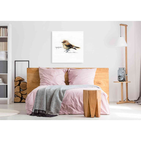 'Finch' by Yellow Cafe, Canvas Wall Art,37 x 37