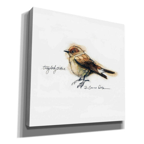 'Finch' by Yellow Cafe, Canvas Wall Art,Size 1 Square