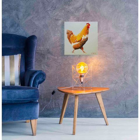 'Blonde Chicken' by Yellow Cafe, Canvas Wall Art,18 x 18