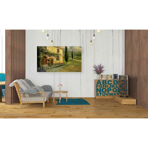'Tuscan Spring' by Yellow Cafe, Canvas Wall Art,40 x 26