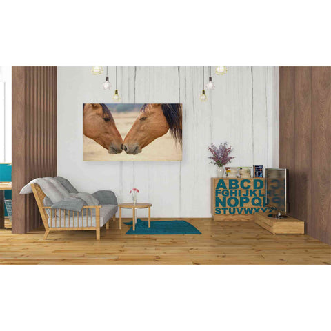 'Best Friends' by Yellow Cafe, Canvas Wall Art,40 x 26