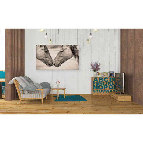 'Best Friends II' by Yellow Cafe, Canvas Wall Art,40 x 26