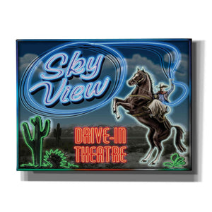 'Skyview Drive In II' by Yellow Cafe, Canvas Wall Art,Size C Landscape