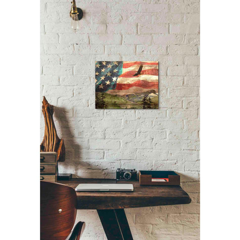'Flag' by Yellow Cafe, Canvas Wall Art,16 x 12