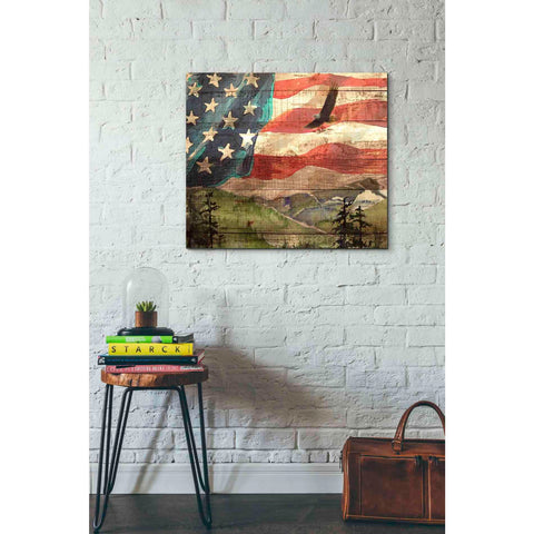 'Flag' by Yellow Cafe, Canvas Wall Art,30 x 26