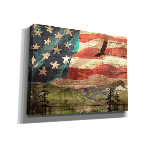 'Flag' by Yellow Cafe, Canvas Wall Art,Size C Landscape