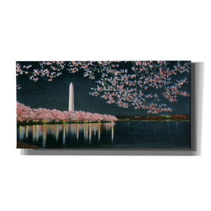 'Washington at Night' by Yellow Cafe, Canvas Wall Art,Size 2 Landscape