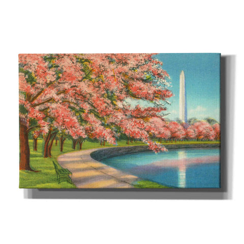 'Washington DC' by Yellow Cafe, Canvas Wall Art,Size A Landscape