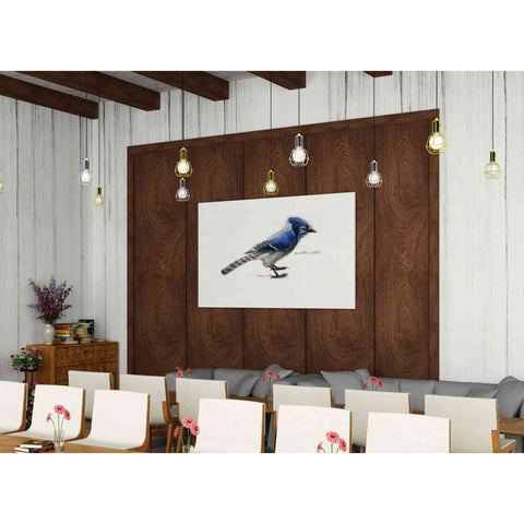'Blue Jay' by Yellow Cafe, Canvas Wall Art,60 x 40