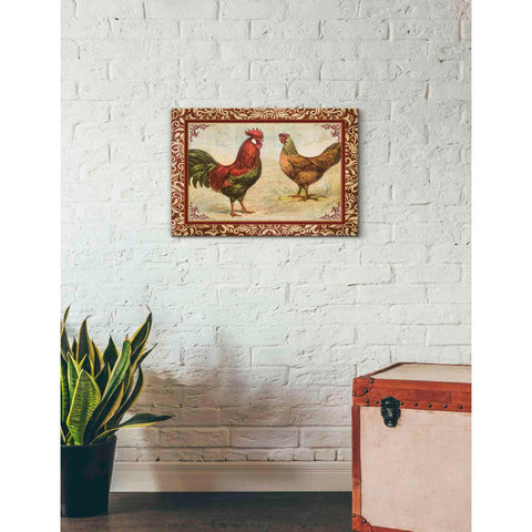 'Chicken I' by Yellow Cafe, Canvas Wall Art,26 x 18