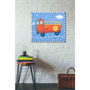 'Blue Firetruck' by Yellow Cafe, Canvas Wall Art,30 x 26