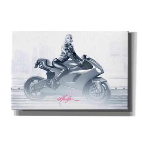 'Marilyn's Ride in Pink' by Yellow Cafe, Canvas Wall Art,Size A Landscape