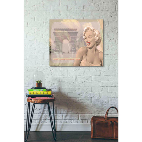 'Marilyn's Triomphe' by Yellow Cafe, Canvas Wall Art,30 x 26