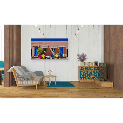 'Curb Appeal' by Yellow Cafe, Canvas Wall Art,40 x 26