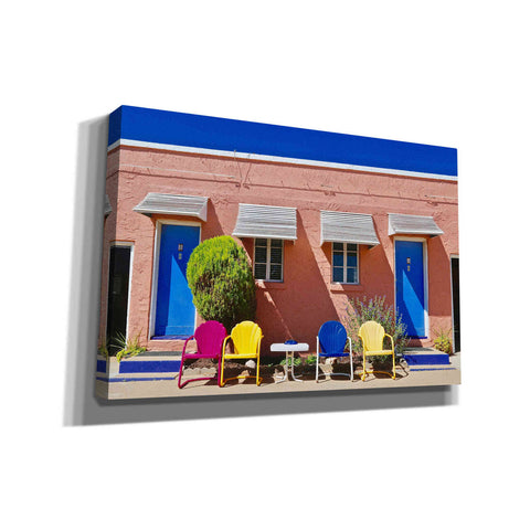 'Curb Appeal' by Yellow Cafe, Canvas Wall Art,Size A Landscape