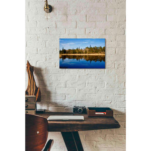 'Lake Reflections' by Yellow Cafe, Canvas Wall Art,18 x 12