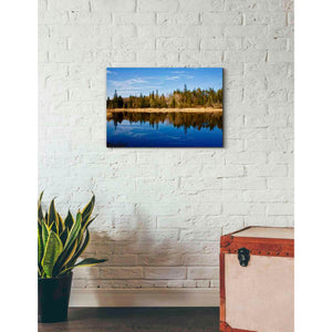 'Lake Reflections' by Yellow Cafe, Canvas Wall Art,26 x 18