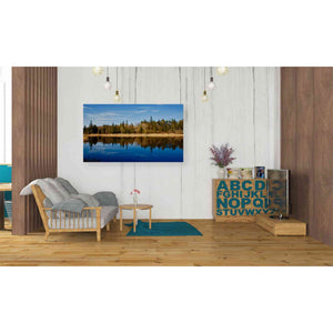 'Lake Reflections' by Yellow Cafe, Canvas Wall Art,40 x 26