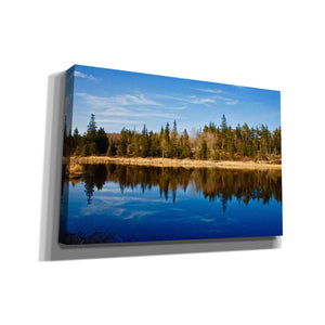 'Lake Reflections' by Yellow Cafe, Canvas Wall Art,Size A Landscape