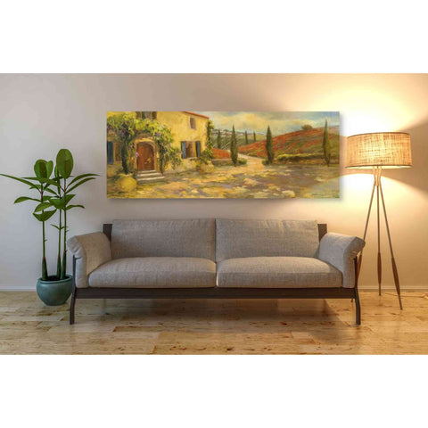 'Tuscan Fields' by Yellow Cafe, Canvas Wall Art,60 x 20
