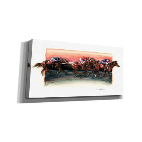 'Horse Race' by Yellow Cafe, Canvas Wall Art,Size 2 Landscape