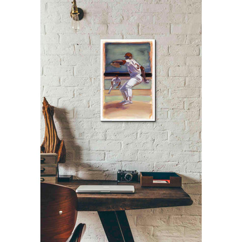 'Baseball I' by Yellow Cafe, Canvas Wall Art,12 x 18