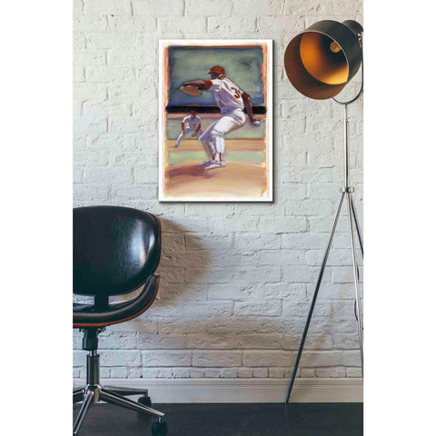 'Baseball I' by Yellow Cafe, Canvas Wall Art,18 x 26