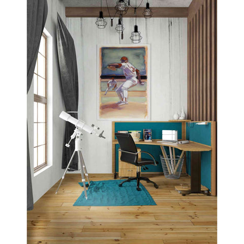 'Baseball I' by Yellow Cafe, Canvas Wall Art,26 x 40