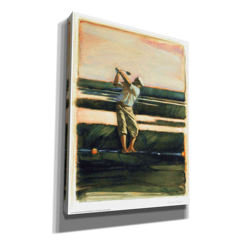 'Golfer' by Yellow Cafe, Canvas Wall Art,Size C Portrait