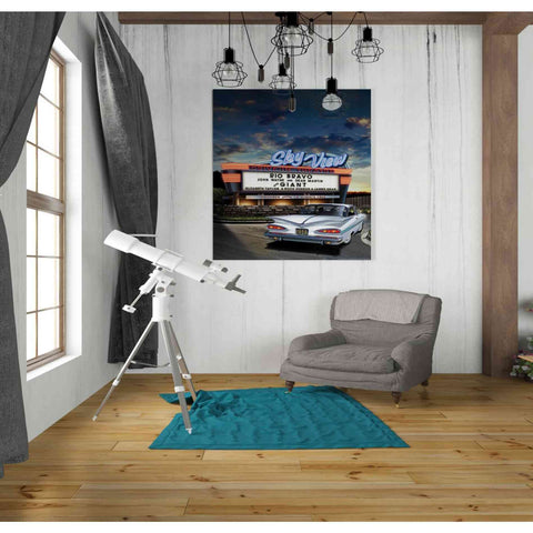 'Skyview Drive In' by Yellow Cafe, Canvas Wall Art,26 x 30