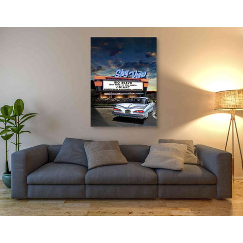 'Skyview Drive In' by Yellow Cafe, Canvas Wall Art,40 x 54