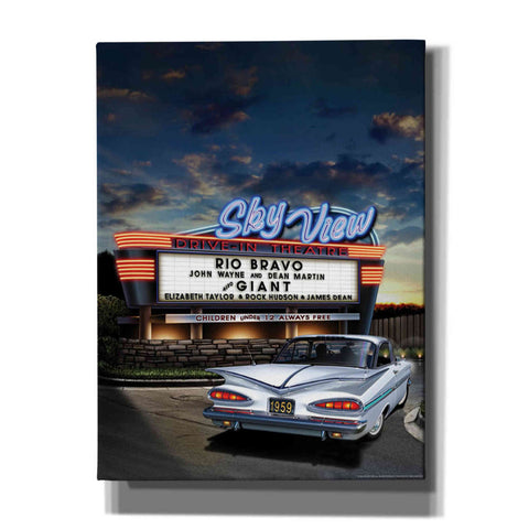 'Skyview Drive In' by Yellow Cafe, Canvas Wall Art,Size C Portrait