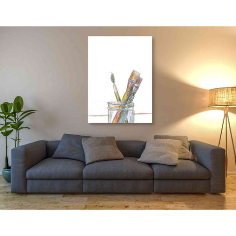 Image of 'Paintbrushes' by Yellow Cafe, Canvas Wall Art,40 x 54