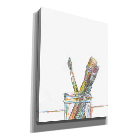 'Paintbrushes' by Yellow Cafe, Canvas Wall Art,Size C Portrait