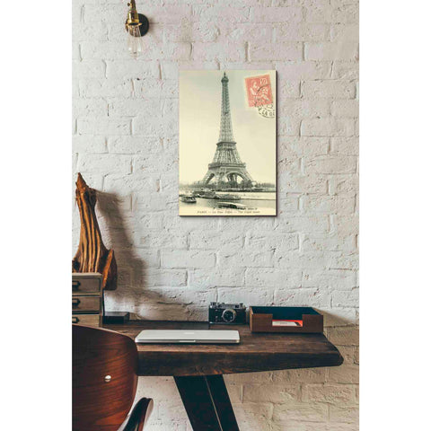 'Tower Stamped' by Yellow Cafe, Canvas Wall Art,12 x 18